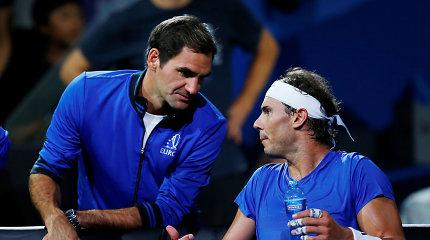 """""""Laver Cup"""": po R.Federerio ir R.Nadalio pergalių """"Europa"""" triuškina """"Pasaulį"""""""