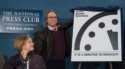 """Susirūpinimas branduoliniais ginklais privertė pasukti """"Pasaulio pabaigos laikrodžio"""" rodyklę"""