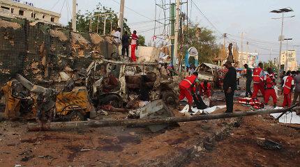 Sprogimų Mogadiše aukų skaičius viršijo 40