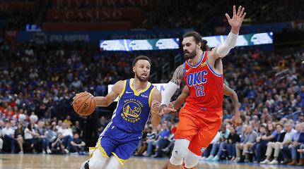 """0/2: NBA vicečempionė """"Warriors"""" pažeminta Oklahomoje"""