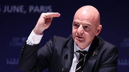 Be konkurencijos: G.Infantino be balsavimo perrinktas FIFA prezidentu