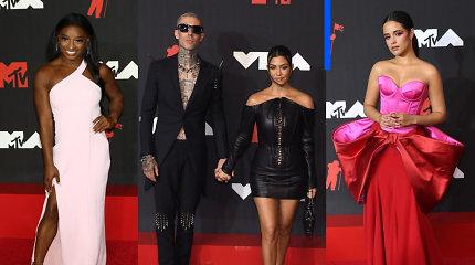 MTV apdovanojimų raudonasis kilimas: kas išlaikė subtilumo ir gero skonio testą?