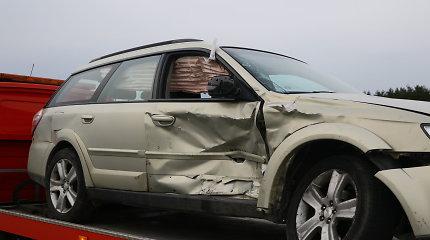 """""""Subaru"""" ir """"Kia"""" avarija Minsko plente Vilniaus pakraštyje"""