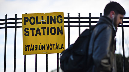 Airijoje vyksta parlamento rinkimai