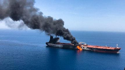 """Japonų tanklaivio įgula prieš ataką Omano įlankoje matė """"skraidantį objektą"""""""