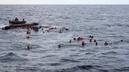 JT: prie Libijos krantų sudužus laivui žuvo mažiausiai 74 migrantai