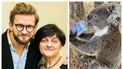 """Australijos gaisrų sujaudinta kulinarinių knygų autorė Elžbieta Monkevič """"įsivaikino"""" koalą"""