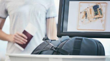 Kodėl oro uoste kompiuterius reikia dėti į atskirą dėžę?