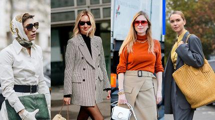 Rankinės, delninės ir krepšiai: kaip nešioti bei derinti skirtingų formų daiktus?