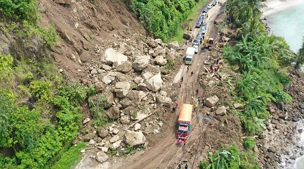 Prie Indonezijos krantų įvyko 6,1 balo žemės drebėjimas