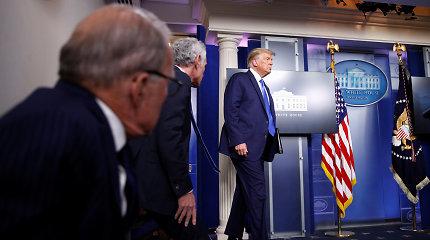 D.Trumpas neatmeta, kad pralaimėjęs rinkimus neperduos valdžios