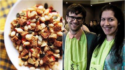 """""""Vegan Pipiro"""" receptas: duonos, pupelių ir obuolių mišrainė"""
