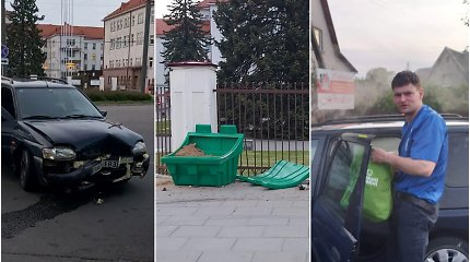 """Kaune girtas """"Ford"""" vairuotojas rėžėsi į kelininkų smėlio dėžę"""