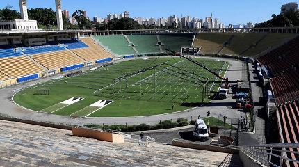 Futbolo stadionas Brazilijoje virsta atvira ligonine