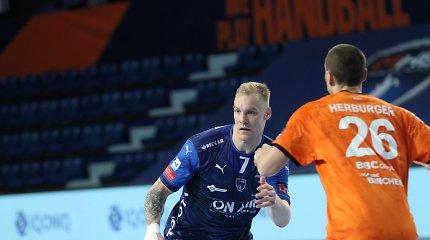 """J.Truchanovičius vis dar nerungtyniavo dėl traumos, o """"Montpellier"""" krito ketvirtfinalyje"""