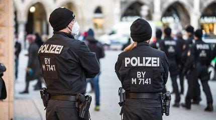 Vokietijos policija sulaikė įtariamąjį neonacių grasinimų byloje