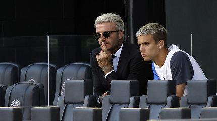 Davido Beckhamo sūnaus debiutas sutraukė aštrių komentarų