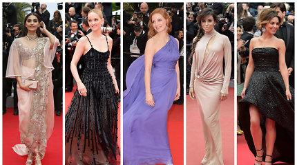 Kanų kino festivalio suknelės (6 diena): pataikė į dešimtuką ar prašovė pro šalį?