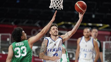 NBA žaidėjai pergalių negarantavo: Italija eliminavo Nigeriją iš olimpinių žaidynių
