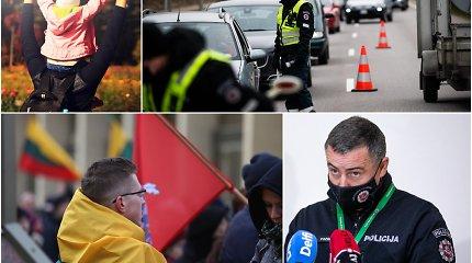 """""""Šeimos maršas"""" su policijos priežiūra: komisaras regi spūstį greitkelyje, bet tikisi išvengti """"negerų dalykų"""""""