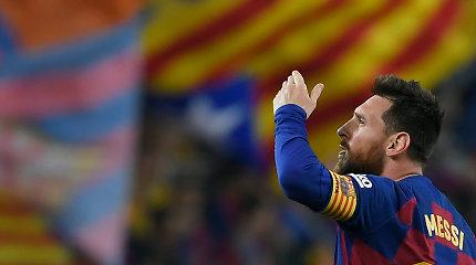 Barselonoje – L. Messi diriguotas penkių įvarčių šou