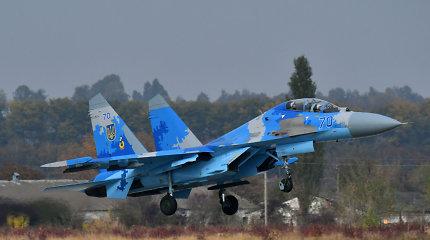 Ukrainoje sudužus naikintuvui žuvo jo pilotas