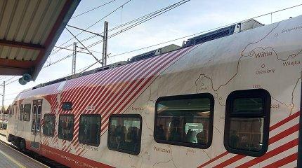 Tyčia kursto aistras dėl ant traukinio Lenkijoje pavaizduoto žemėlapio, kur Vilnius – lenkų