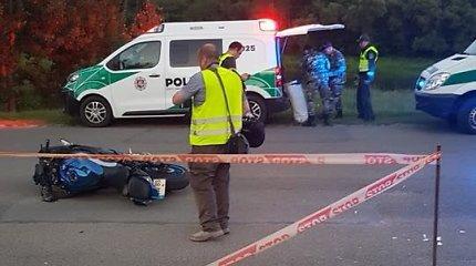 Vilniuje neatidus motociklininkas pražudė dviratininkę