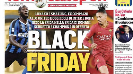 """Skandalas Italijoje: šalia juodaodžių žaidėjų – """"juodojo penktadienio"""" antraštė"""