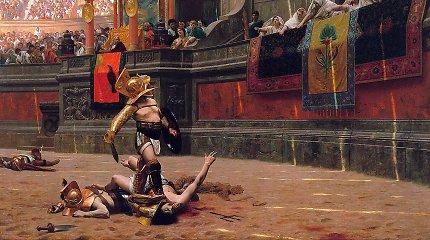 Nykštys žemyn – ar tikrai tokiu gestu būdavo pasmerkiami kovoje pralaimėję gladiatoriai?