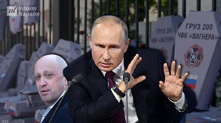 """Apžvalga Putinui: 183-ijų Rusijos karinės žvalgybos pareigūnų iš PKB """"Vagner"""" likvidavimas"""