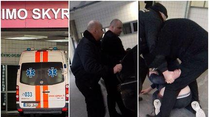 """Dėl šonkaulių lūžių į Santarų klinikas atvežtą baltarusį apsaugininkai """"pagydė"""" spyriais"""
