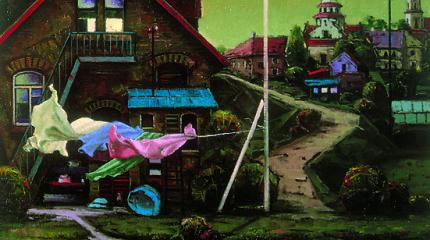 """Poeto Antano A. Jonyno ir tapytojo Algio Griškevičiaus tandemas pristato rinktinę """"Vilnius. Upė teka apačioje"""""""