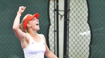 WTA reitinge lietuvaitės šoktelėjo keturiomis pozicijomis