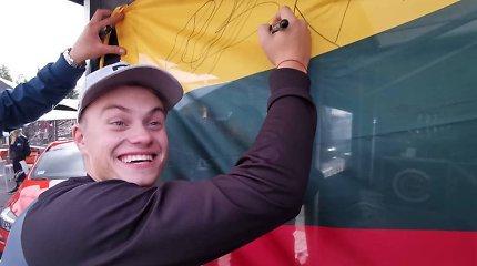 Ryga prabilo lietuviškai: Rokas Baciuška apstumdė lyderius ir laimėjo šeštadienio lenktynes