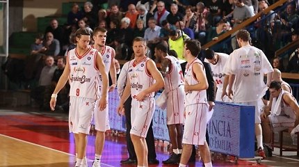 Rimanto Kaukėno ekipai nepavyko pateikti staigmenos Italijos krepšinio lygos ketvirtfinalyje