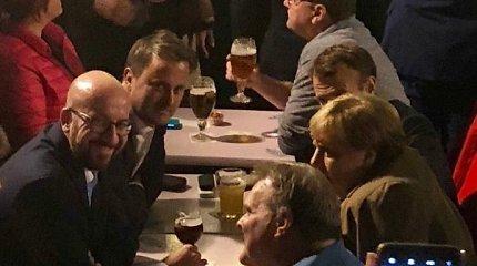 Kol Th.May vakarieniavo viena, Europos lyderiai gėrė alų Briuselyje