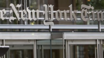 """""""The New York Times"""", sulaukęs kaltinimų antisemitizmu, nebeskelbs politinių karikatūrų"""