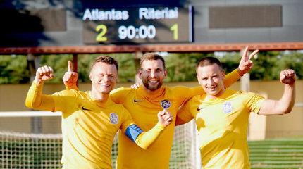 """Istorinis """"Atlanto"""" vardas – į Lietuvos futbolo kapines"""