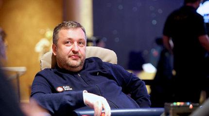 """""""Triton €100K Super High Roller"""" kovą Čekijoje užtikrintai pradėjo Antanas Guoga"""