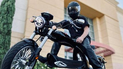 Stilingiausias elektrinis motoroleris? Tiems, kurie svajojo būti baikeriais