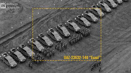 """ESBO Donbase užfiksavo 15 naujausių Rusijos šarvuočių UAZ """"Esaul"""""""