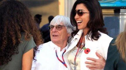 """Bernie Ecclestone'as sulaukė sūnaus būdamas 89 metų: """"Pagaliau berniukas"""""""