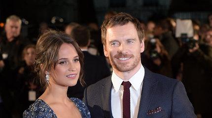 Aktorių pora Alicia Vikander ir Michaelas Fassbenderis