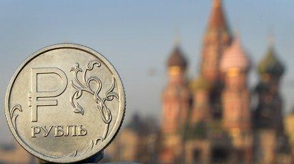 Rusijos rublio kursas krito žemiausiai per ketverius metus