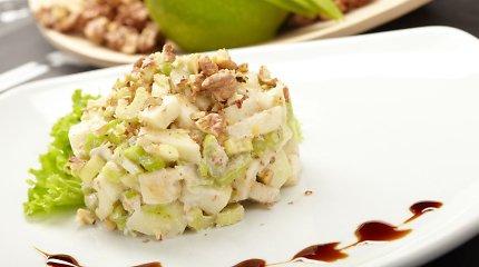Salotos ir garnyrai su obuoliais: 10 nuostabių receptų