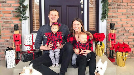 """Viktorija ir Martynas Pociai šventes pirmąkart sutiko su dvyniais: """"Širdis daugiau džiaugtis negalėtų"""""""