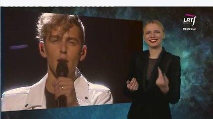 """Donato Montvydo dainą """"Eurovizijoje"""" į gestų kalbą išvertusi lietuvė tapo interneto sensacija"""
