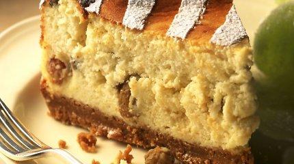 Skaniau nebūna: nuostabus sūrio pyragas su figomis ir apelsinais