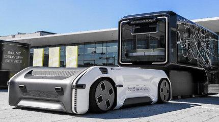 """Pristatytas neįprastas autonominis automobilis """"U-Shift"""": varomas elektra, gali būti naudojamas pagal poreikį"""